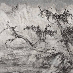 63 Qiu Ting, Old Cypress and Cold Mountains, 136 x 69 cm, 2015