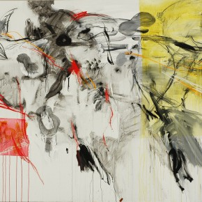 Yang Shu, Untitled 2007-Flower, 2007; Acrylic and mixed media on canvas, 180 x 260cm