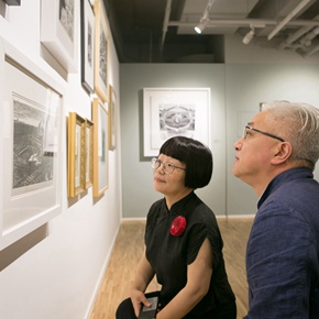 """""""Print Summit – The Communication Exhibition of Print Works by Artists from the East and the West"""" opened at the Gauguin Gallery"""