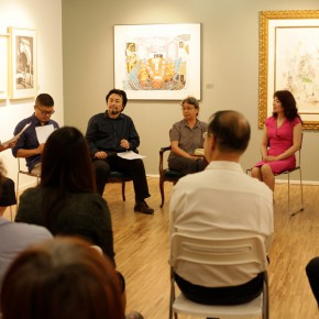 """01 View of the press conference1 290x290 - """"Print Summit – The Communication Exhibition of Print Works by Artists from the East and the West"""" opened at the Gauguin Gallery"""