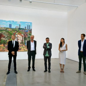 "02 Curator Jérôme Sans founder of Faurschou Foundation Jens Faurschou artist Liu Xiaodong 290x290 - Reproduce the Art Reality of ""A Ghost City"" Ordos: Diary of an Empty City Liu Xiaodong's Solo Exhibition Debuted at the Faurschou Foundation Beijing"