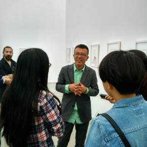 "03 Artist Liu Xiaodong guided the media to visit the exhibition 290x290 - Reproduce the Art Reality of ""A Ghost City"" Ordos: Diary of an Empty City Liu Xiaodong's Solo Exhibition Debuted at the Faurschou Foundation Beijing"