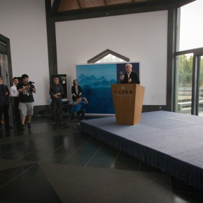 "03 Xu Lei addressed the opening ceremony 290x290 - Xu Lei's Solo Exhibition ""Fugue"" opened at Suzhou Museum"