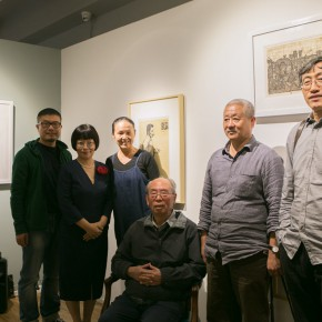 """05 Group photo of curators Kang Jianfei Dong Huiping and artists Wu Biduan Zhang Guilin Li Xiaolin 290x290 - """"Print Summit – The Communication Exhibition of Print Works by Artists from the East and the West"""" opened at the Gauguin Gallery"""