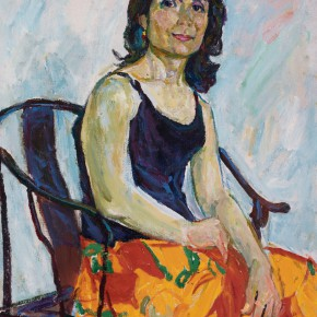 05 Luo Erchun, The Lady Sitting in the Old Sofa, oil painting, 81 x 65 cm, 2007