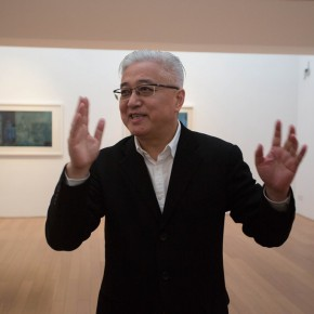 "08 Artist Xu Lei guided the media to visit the exhibition 290x290 - Xu Lei's Solo Exhibition ""Fugue"" opened at Suzhou Museum"