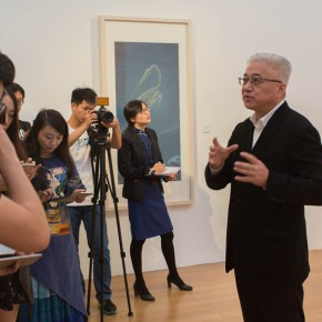 "09 Artist Xu Lei guided the media to visit the exhibition 290x290 - Xu Lei's Solo Exhibition ""Fugue"" opened at Suzhou Museum"