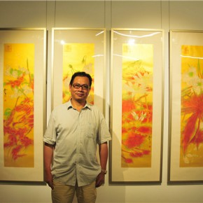 12 Artist Yao Shunxi and his work 290x290 - Pattern · Style – the First Chinese Painting Exhibition for the Ph.D. students opened at the Rhythm Art Museum