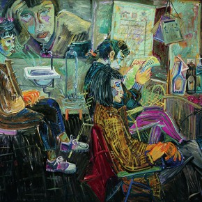 "13 Shen Ling Hair Salon Series No.1 150 x 190 cm oil on canvas 1990 collected by CAFA Art Museum 290x290 - ""The Temperature of History: CAFA and Chinese Representational Oil Paintings"" opening at the Ancestral Temple Art Gallery"