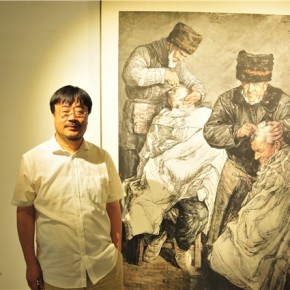 14 Artist Bi Jianxun and his work 290x290 - Pattern · Style – the First Chinese Painting Exhibition for the Ph.D. students opened at the Rhythm Art Museum