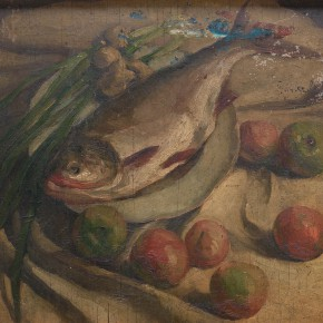 17 Wen Jinyang Trout and Vegetable 290x290 - Expert in the Principles of Art: the Exhibition in Celebration of the 100th Birthday of Mr. Wen Jinyang Opening at CAFA Art Museum