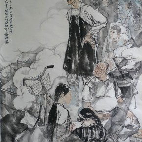 18 Xiao Shanshan, Huajiadi, ink on paper, 145 x 180 cm, 2015