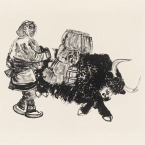 """19 Wu Changjiang Untitled 290x290 - """"Print Summit – The Communication Exhibition of Print Works by Artists from the East and the West"""" opened at the Gauguin Gallery"""
