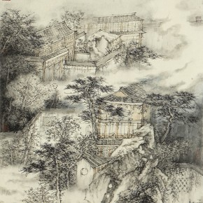 19 Wu Changpu, Garden No.1, ink on paper, 70 x 47 cm, 2014