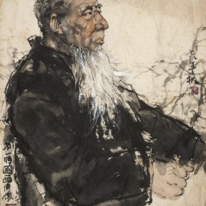 21 Li Jins First Portrait of Chinese Painting 1978 ink on paper 45.5×39.5cm 290x290 - The Sensory Life of the Mass — 30 Years of Li Jin Exhibiting at Long Museum