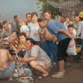 "22 Xin Dongwang Avoid Summer Heat 210 x 280 cm oil on canvas 2009 collected by the family member 290x290 - ""The Temperature of History: CAFA and Chinese Representational Oil Paintings"" opening at the Ancestral Temple Art Gallery"