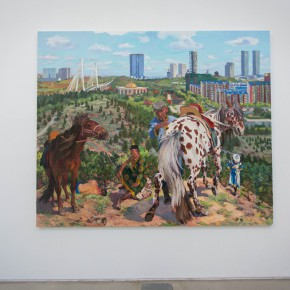 "24 Exhibition view of Diary of an Empty City 290x290 - Reproduce the Art Reality of ""A Ghost City"" Ordos: Diary of an Empty City Liu Xiaodong's Solo Exhibition Debuted at the Faurschou Foundation Beijing"