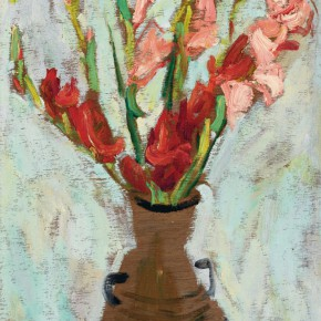 25 Luo Erchun, The Bouquet No.3, oil painting, 58.5 x 37 cm, 2001