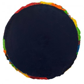 "25 Ma Shuqing Untitled oil on canvas diameter 85 cm 2013 2015 290x290 - ""How to Make a Sexy Painting: Ma Shuqing 2015"" opened at Inside-Out Art Museum"