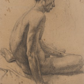 25 Wen Jinyang Male Nude 76×56cm 1938 290x290 - Expert in the Principles of Art: the Exhibition in Celebration of the 100th Birthday of Mr. Wen Jinyang Opening at CAFA Art Museum