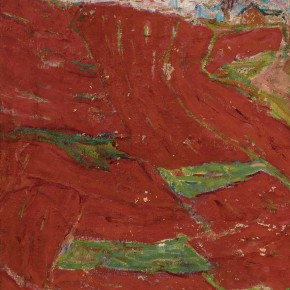 29 Luo Erchun, Red Earth, oil painting, 73.5 x 73.5 cm, 1980