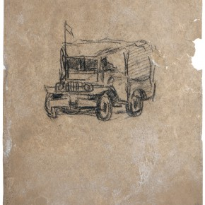 29 Wen Jinyang Millitary Vehicle into Tibet 24.7×19cm 290x290 - Expert in the Principles of Art: the Exhibition in Celebration of the 100th Birthday of Mr. Wen Jinyang Opening at CAFA Art Museum