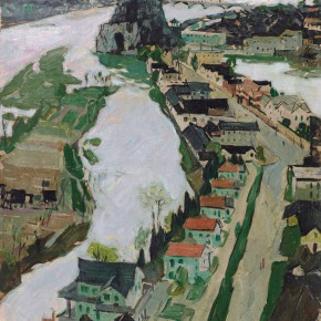 32 Luo Erchun, The March of Guilin, oil painting, 48 x 34.5 cm, 1971