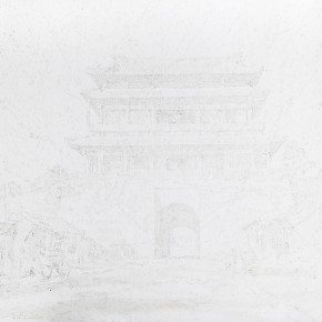 33 Chen Jiong Gate Tower 2015 painting on paper 290x290 - Sinic Designer: Solo Exhibition by Chen Jiong opened in Beijing