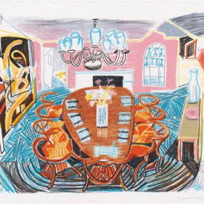 """37 David Hockney Tyler Dining Room 290x290 - """"Print Summit – The Communication Exhibition of Print Works by Artists from the East and the West"""" opened at the Gauguin Gallery"""