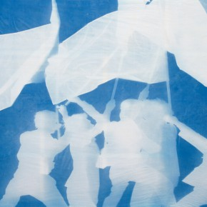 "45 Zhang Dali Ludwisburg June Cyanotype Photogram Mounted on Fine Linen 245X297cm 2011 6 26 290x290 - The United Art Museum presents ""From Reality to Extreme Reality – The Road of Zhang Dali"" in Wuhan"