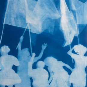 "46 Zhang Dali July4LudwisburgCyanotype Photogram Mounted on Fine Linen 280X237cm2011 7 8 290x290 - The United Art Museum presents ""From Reality to Extreme Reality – The Road of Zhang Dali"" in Wuhan"