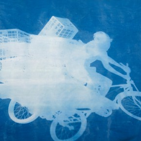 "47 Zhang Dali Delivery Bicycles1LudwisburgCyanotype Photogram Mounted on Fine Linen260X360cm2011 8 16 290x290 - The United Art Museum presents ""From Reality to Extreme Reality – The Road of Zhang Dali"" in Wuhan"