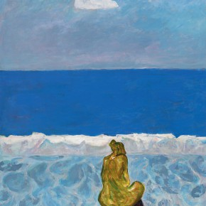 52 Luo Erchun, The Meditation of the Mediterranean, oil painting, 120 x 100 cm, 2006