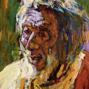 80 Luo Erchun, A White-Haired Old Man, oil painting, 51 x 40.5 cm, 2007