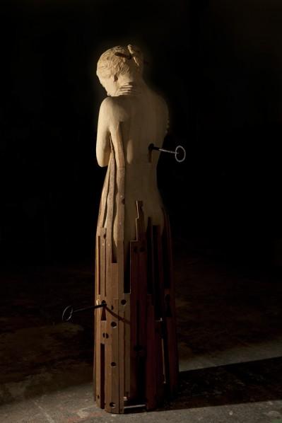 Naas Vangelis, Dream; sculpture, 50x58x154cm