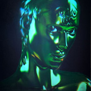 Pey-Chwen Lin, The Portrait of Eve Clone; #D Hologram, Acrylic Frame, Spotlight, 2010-2012, 46x57.5x4cm each piece