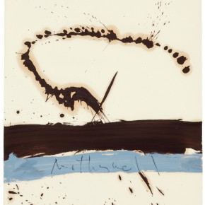 Robert Motherwell Beside the Sea No.3 1962 Oil on paper 73.7 x 57.8 cm Courtesy of the artist and Pearl Lam Galleries 290x290 - Pearl Lam Galleries presents the first solo exhibition in Asia of works by Robert Motherwell