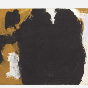 Robert Motherwell Two Figures No.7 1958 Oil on paperboard mounted on board 19.1 x 21.6 cm 290x290 - Pearl Lam Galleries presents the first solo exhibition in Asia of works by Robert Motherwell