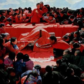Wang Qidong Wedding on Taihang Mountain 2010 2014 Oil painting 180x350cm 290x290 - Memory and Dream: The 6th China Beijing International Art Biennial Opening September 24 at NAMOC
