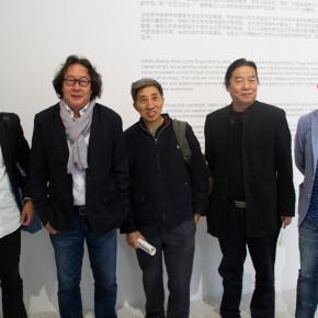 """01 Group photo of Feng Boyi Xu Bing Liang Shaoji Shang Yang and Zhang Xiaotao 290x290 - KCCA announces its opening with the exhibition """"Three and One Thirds: Shang Yang × Liang Shaoji × Xu Bing"""""""