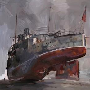 03 Ding Yilin, Zhongshan Warship, 120 x 120 cm, 2011