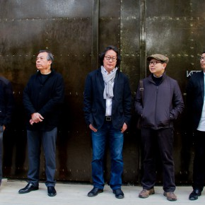 "05 Group photo of honored guests 290x290 - KCCA announces its opening with the exhibition ""Three and One Thirds: Shang Yang × Liang Shaoji × Xu Bing"""
