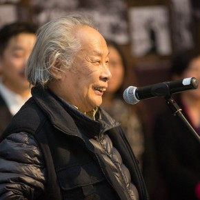 "05 Li Huaji the first Director of the Department of Mural Painting CAFA addressed the opening ceremony 290x290 - Reviewing the History While Looking into the Future: ""Life after Stepping out of Xiaowei"" Art Exhibition Unveiled at CAFA"
