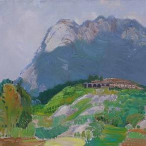 07 Ding Yilin, Cloud and Fog Mountain Villa, 60 x 80 cm, 2008