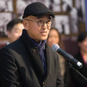 "07 Representative of the artists Li Tianyuan addressed the opening ceremony 290x290 - Reviewing the History While Looking into the Future: ""Life after Stepping out of Xiaowei"" Art Exhibition Unveiled at CAFA"