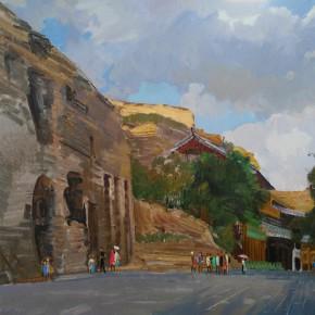 08 Ding Yilin, Yungang Grottoes, 80 x 100 cm, 2015