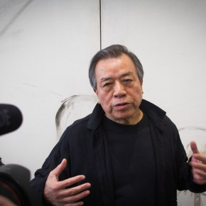 """09 Shang Yang guided media to visit of the exhibition 290x290 - KCCA announces its opening with the exhibition """"Three and One Thirds: Shang Yang × Liang Shaoji × Xu Bing"""""""