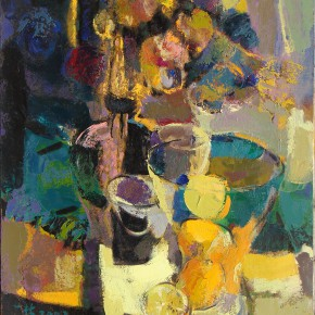 106 Ding Yilin, Flowers and Lemons, 60 x 50 cm, 2002