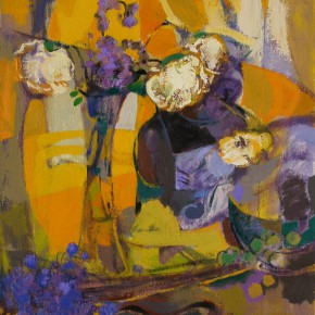 107 Ding Yilin, White Roses, 54 x 45 cm, 2003