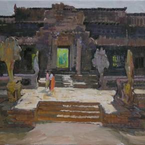 11 Ding Yilin, Ancient Echo – Angkor Sketch No.1, 50 x 60 cm, 2008